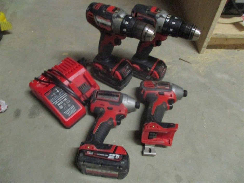 4x Milwaukee 18V Hand Held Powers Tools with Charger