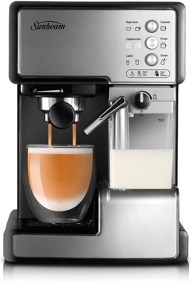 SUNBEAM Cafe Barista Coffee Machine, One-touch Espresso, Latte & Cappuccino