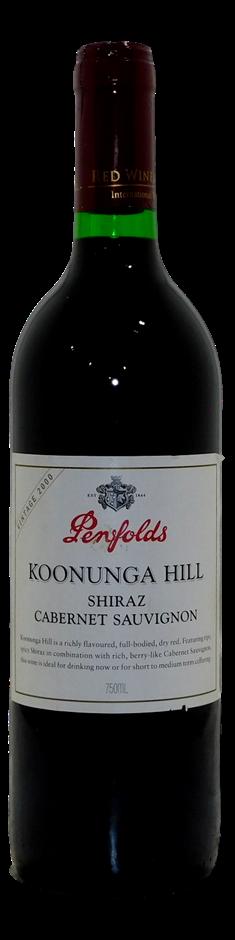 Penfolds Koonunga Hill Shiraz Cabernet 2000 (1x 750mL), SA