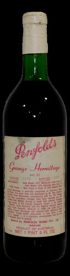 Penfolds Bin 95 Grange Shiraz 1970 (1x 1 PT 6FLOZ), SA