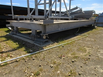 Solar Powered Container Weighing Platform - 20ft