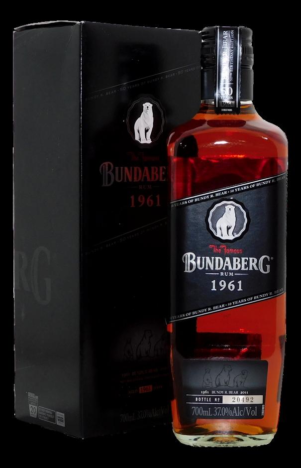Black 1961 Rum NV (1x 700mL, Bottle # 20492), QLD. Screwcap