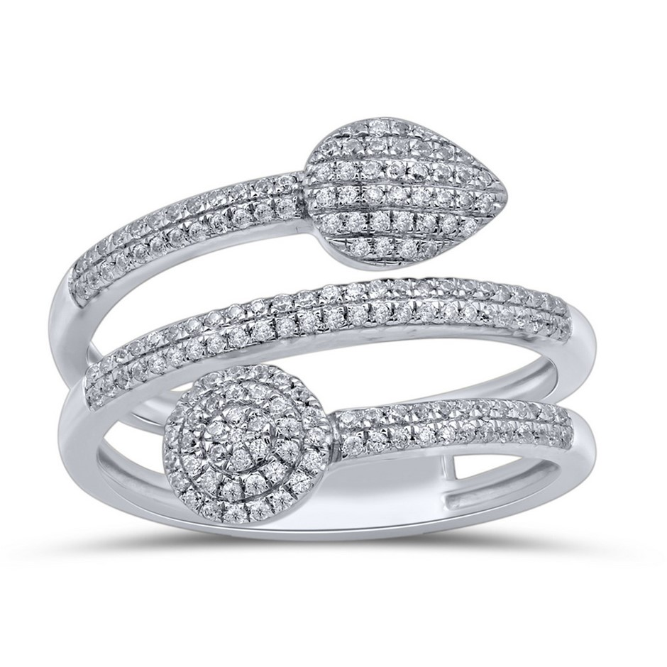 9ct White Gold, 0.35ct Diamond Ring
