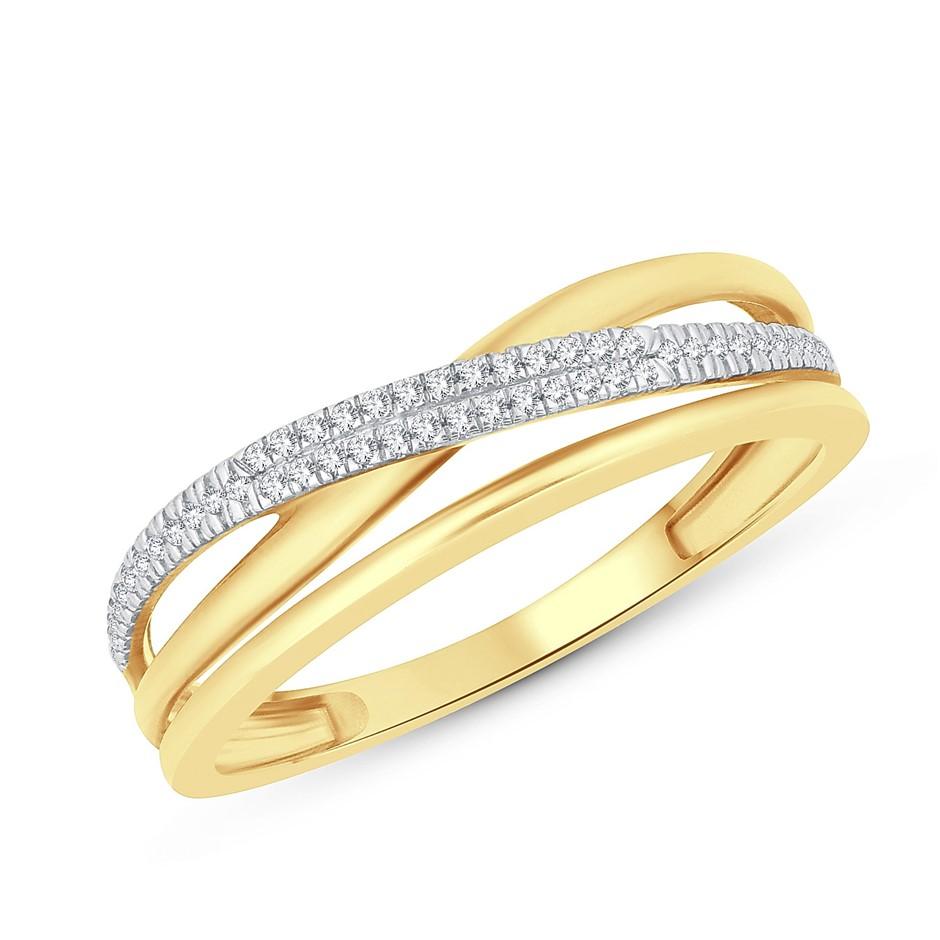 9ct Yellow Gold, 0.07ct Diamond Ring