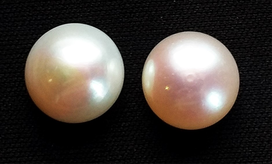 11.18 Carat Fresh Water Pearl Pair