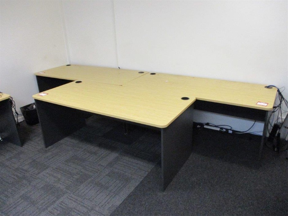 Qty 3 x Timber Laminated Desks