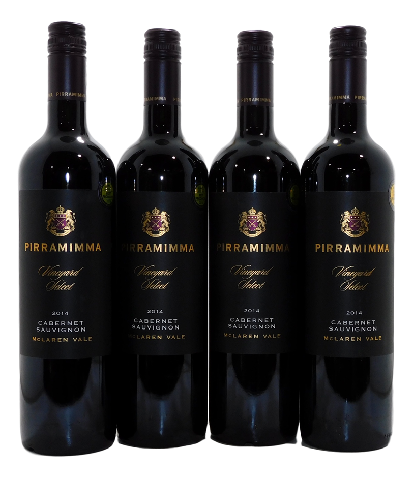 Pirramimma Vineyard Select Cabernet Sauvignon 2014 (4x 750mL), McLaren Vale