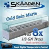 Unused Cold Bain Marie 8 x 1/3 GN (Trays Not Included) - VRX-1800