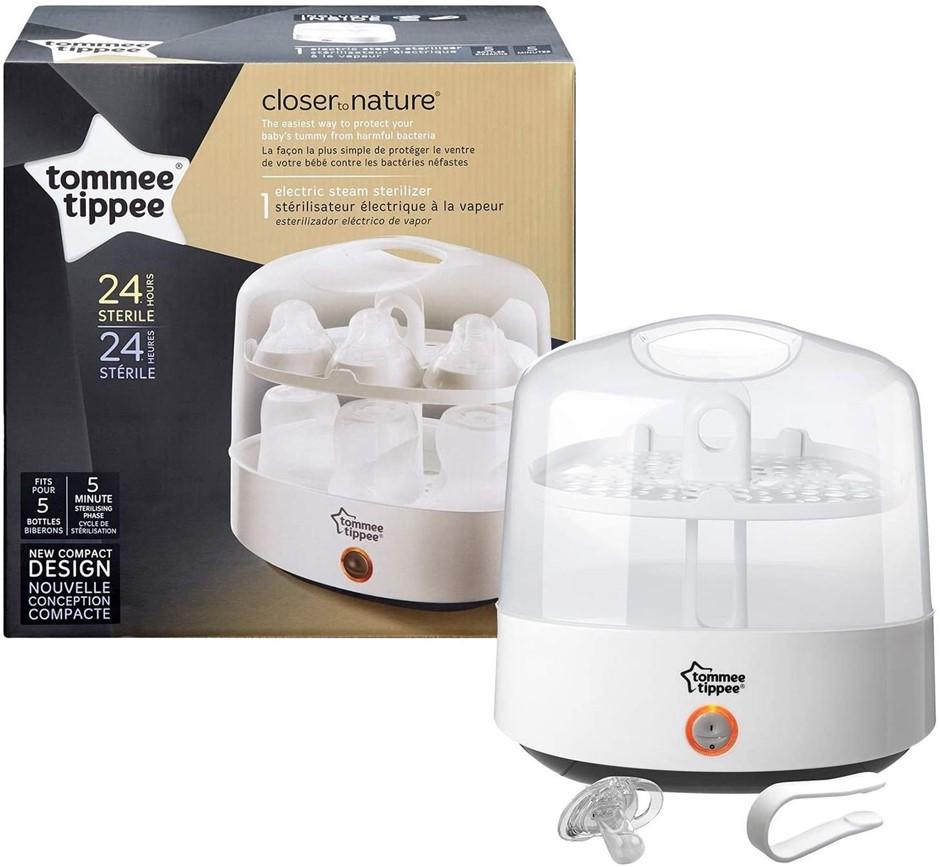 TOMMEE TIPPEE Microwave Steriliser Kit, White, BPA Free. (SN:B01C6ZWBNU) (2
