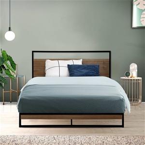 Metal Bed Frame King Single Mattress Bas