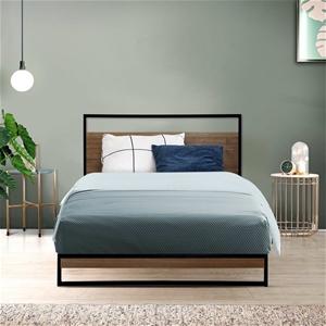 Metal Bed Frame Single Size Mattress Bas