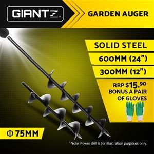 Giantz Power Garden Spiral Auger Hole Di