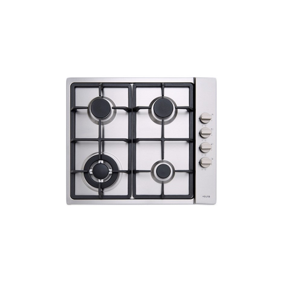 Euro 60cm Stainless Steel Gas Cooktop, Model: ECT60GX