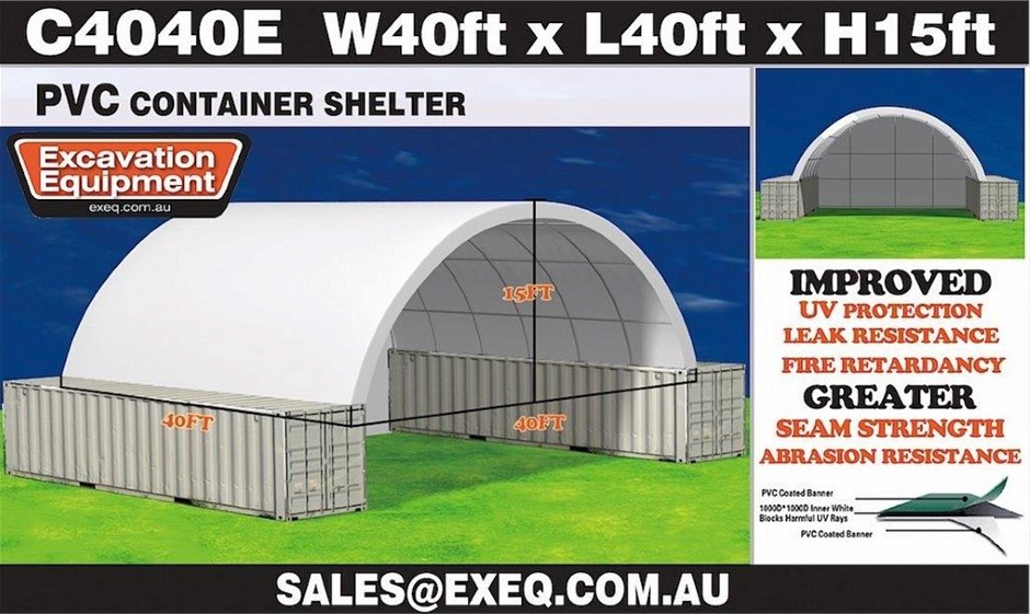 2020 Unused Heavy Duty 40ft Container Shelter with Endwall,