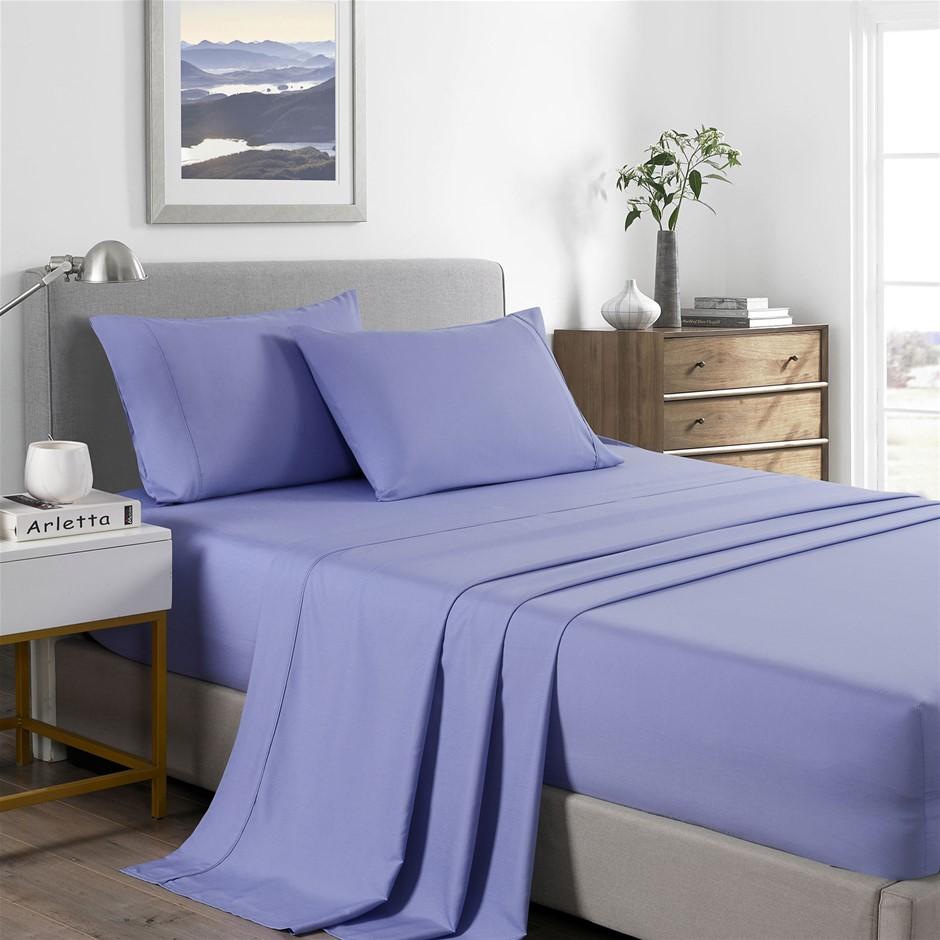 Royal Comfort Bamboo Cooling 2000TC Sheet Set - Single-Mid Blue