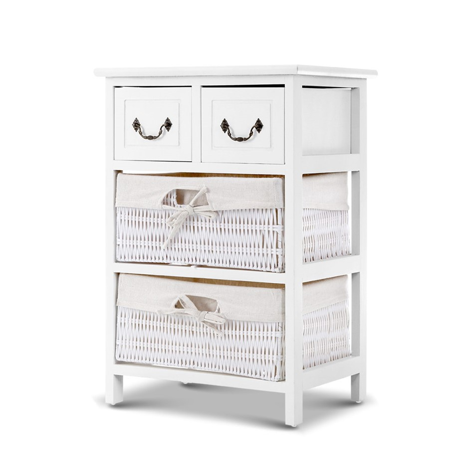 Artiss Storage Cabinet Dresser Chest of Drawers Bedside Table Lamp Side