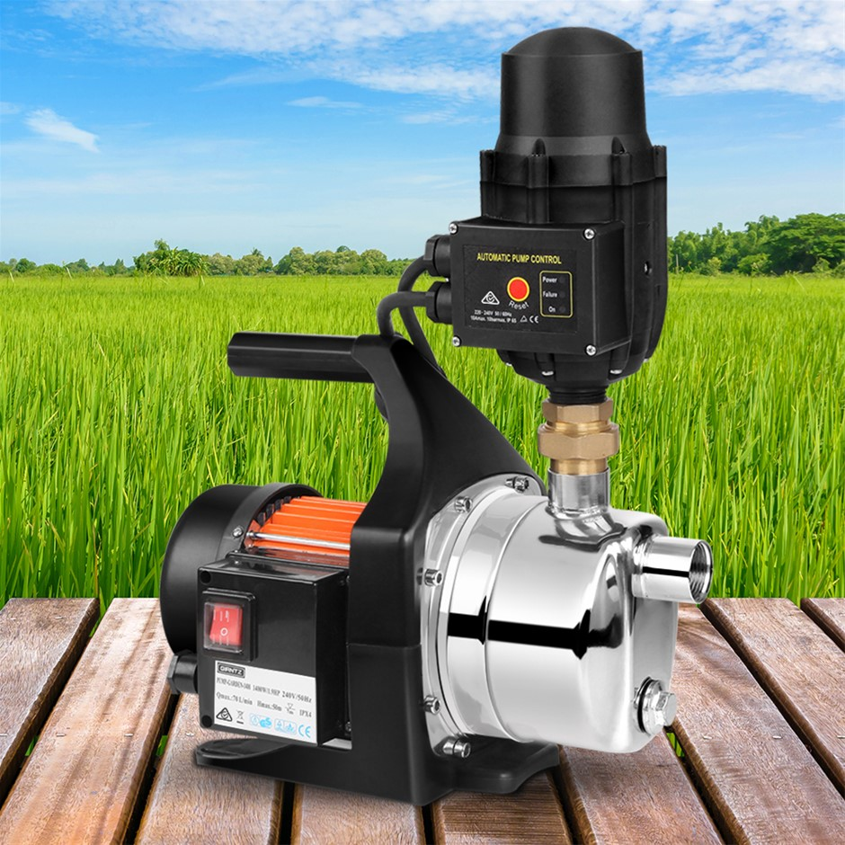 Giantz Stage 1500W Garden Water Pump High-Pressure Tank Rain Irrigation