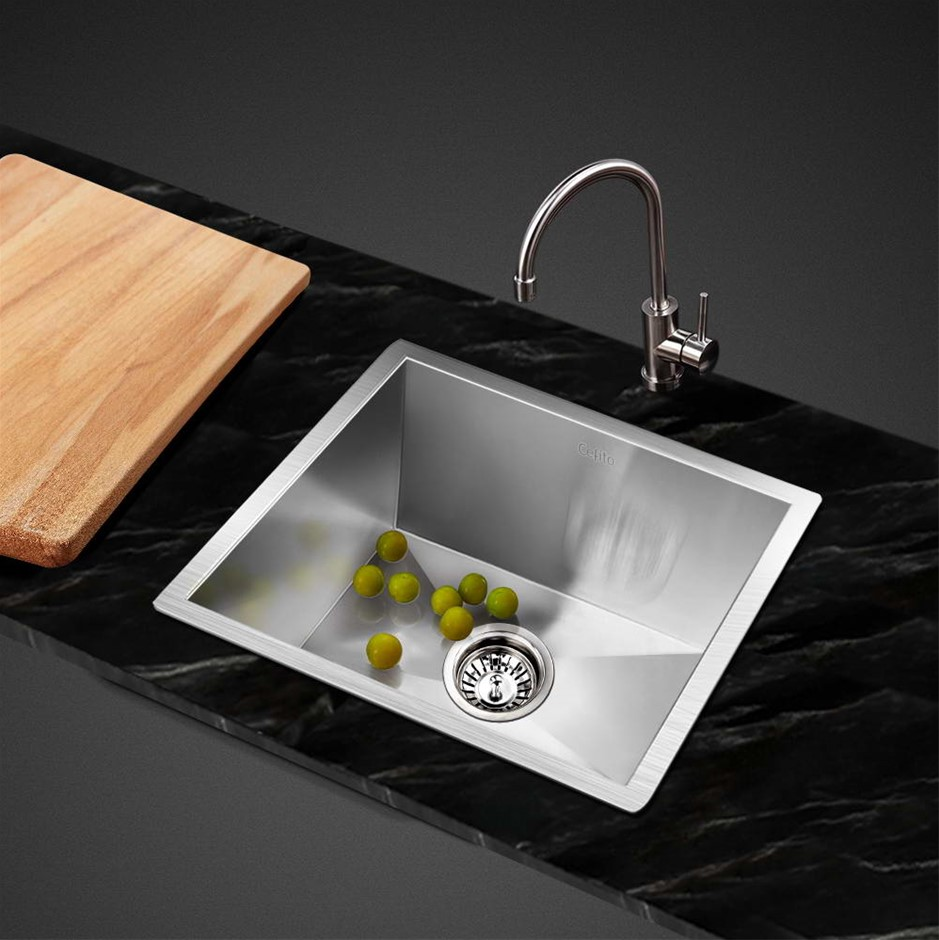 Cefito Kitchen Sink Stainless Steel Under/Topmount Laundry 360x360mm