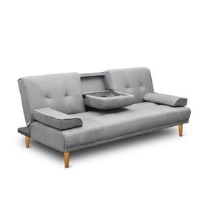 Artiss 3 Seater Linen Fabric Sofa Bed -