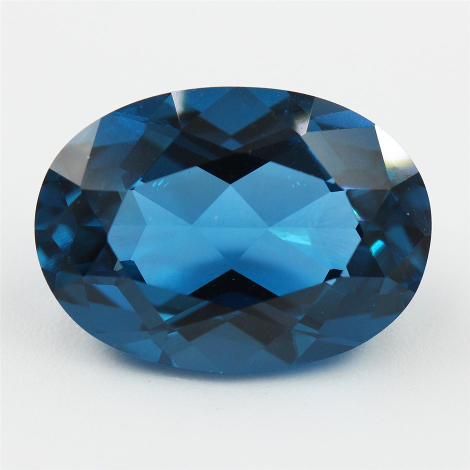 One Loose Blue Topaz, 14.85ct in Total