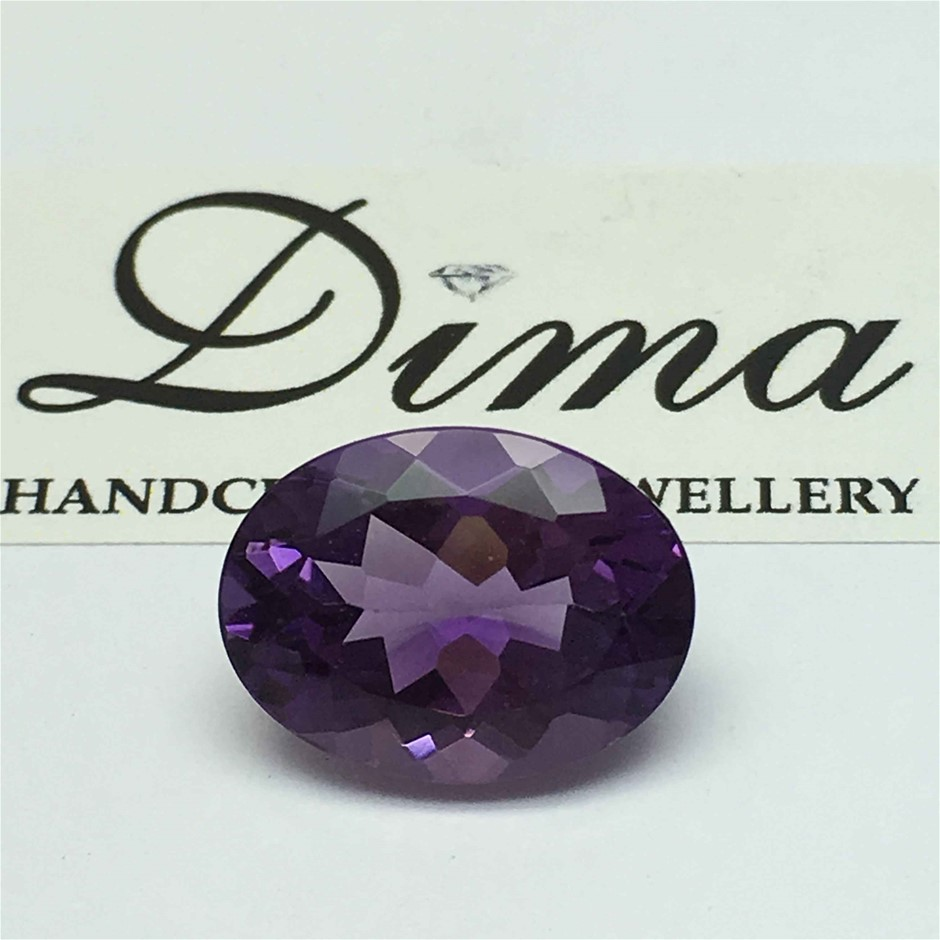 One Stone Amethyst Oval 4.97ct