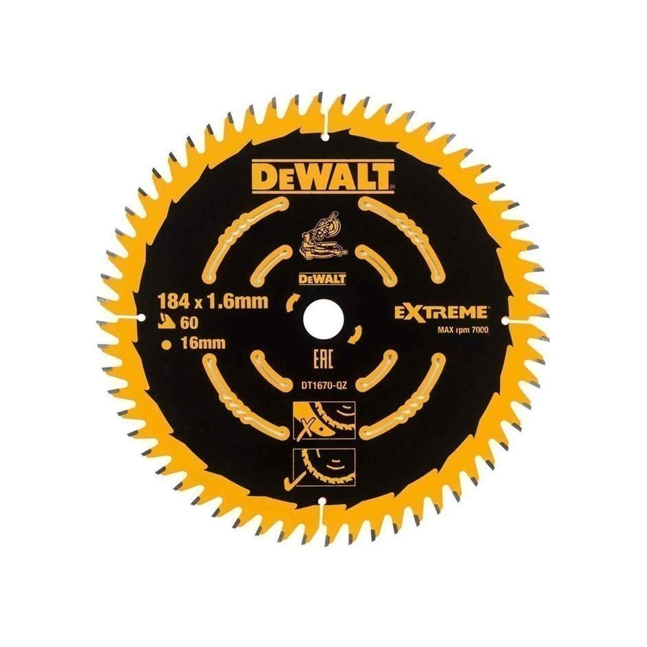 DeWALT Timber Saw Blade 184 x 16 x 60 Teeth (SN:DT1670-QZ) (277153-117)