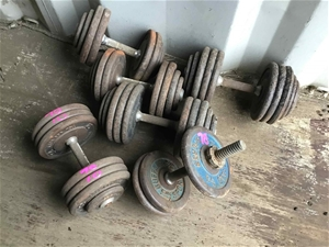 3 x Sets (6) of Dumb Bell Weights