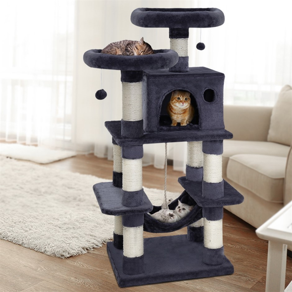 i.Pet Premium Cat Tree 145cm Scratching Post Scratcher Tower Condo House