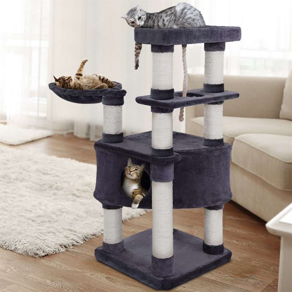 i.Pet Premium Cat Tree 137cm Scratching Post Scratcher Tower Condo House