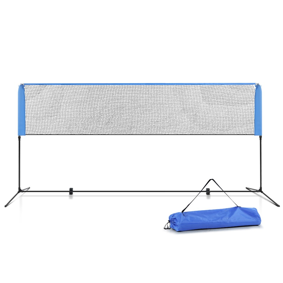 Everfit Portable Sports Net Stand Badminton Volleyball Soccer 4M 4FT Blue