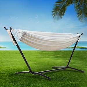Gardeon Hammock With Stand Cotton Rope L