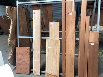 Timber Slabs, Boards and Burls Including&#59;