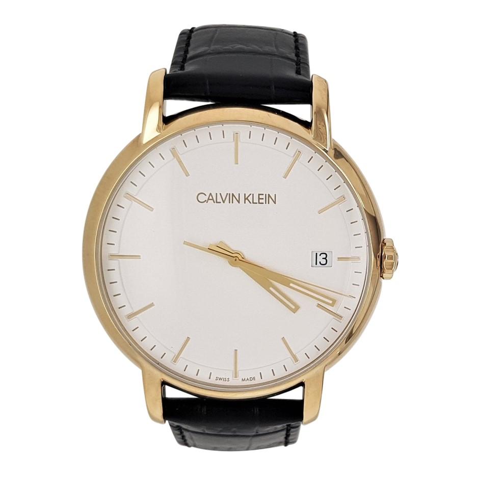 Calvin Klein Established Quartz Silver Dial Men's Watch