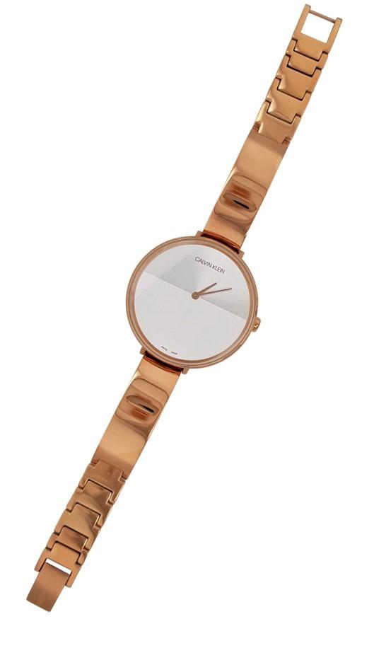 Calvin KleinRise Quartz Silver and White Ladies Watch
