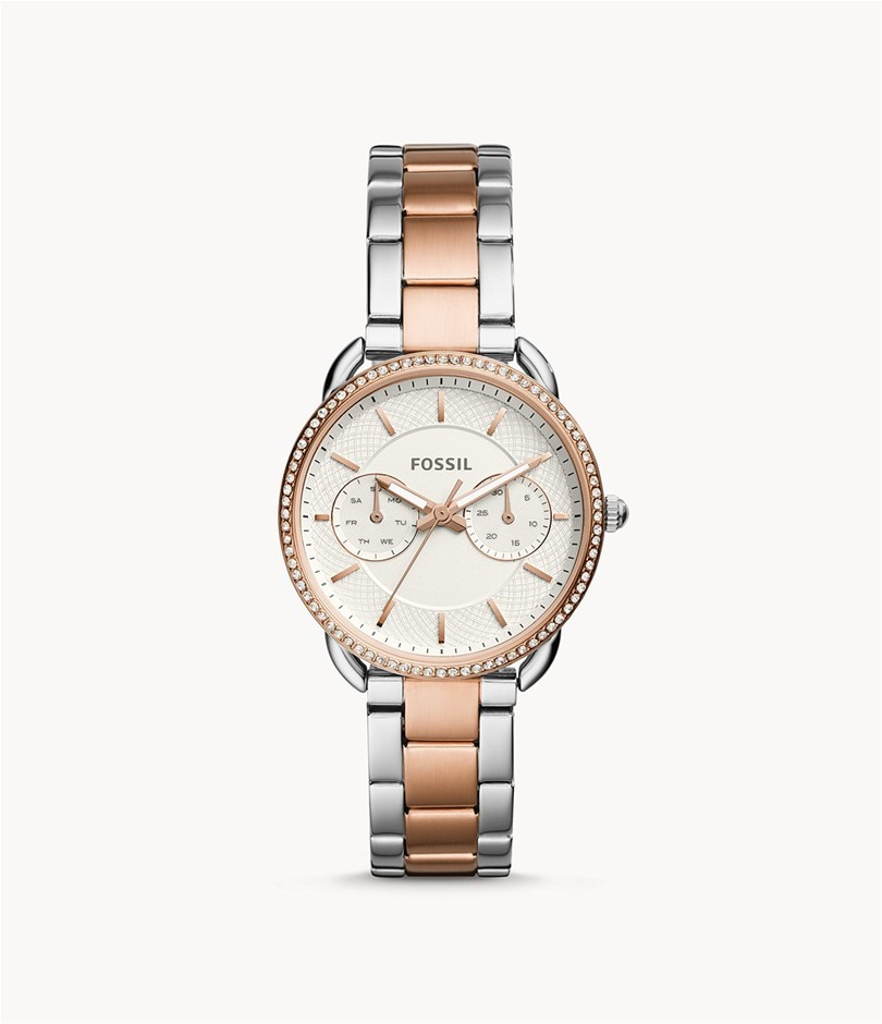 FOSSIL Tailor Women`s 35mm Multi-Function Watch with Stainless Steel Case a