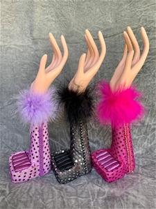 3 x HAND JEWELLERY DISPLAYS with SEQUINS