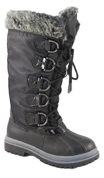 Khombu Women's Birch High Boots, Black (Size: 6.0 US) - Pair