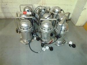 Qty 9 x Aluminium Par Can Lights