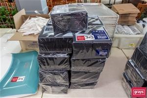 Qty 16 x Packs of Black Paper Dinner Nap