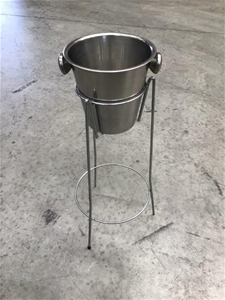 Stainless Steel Ice Bucket and Stand