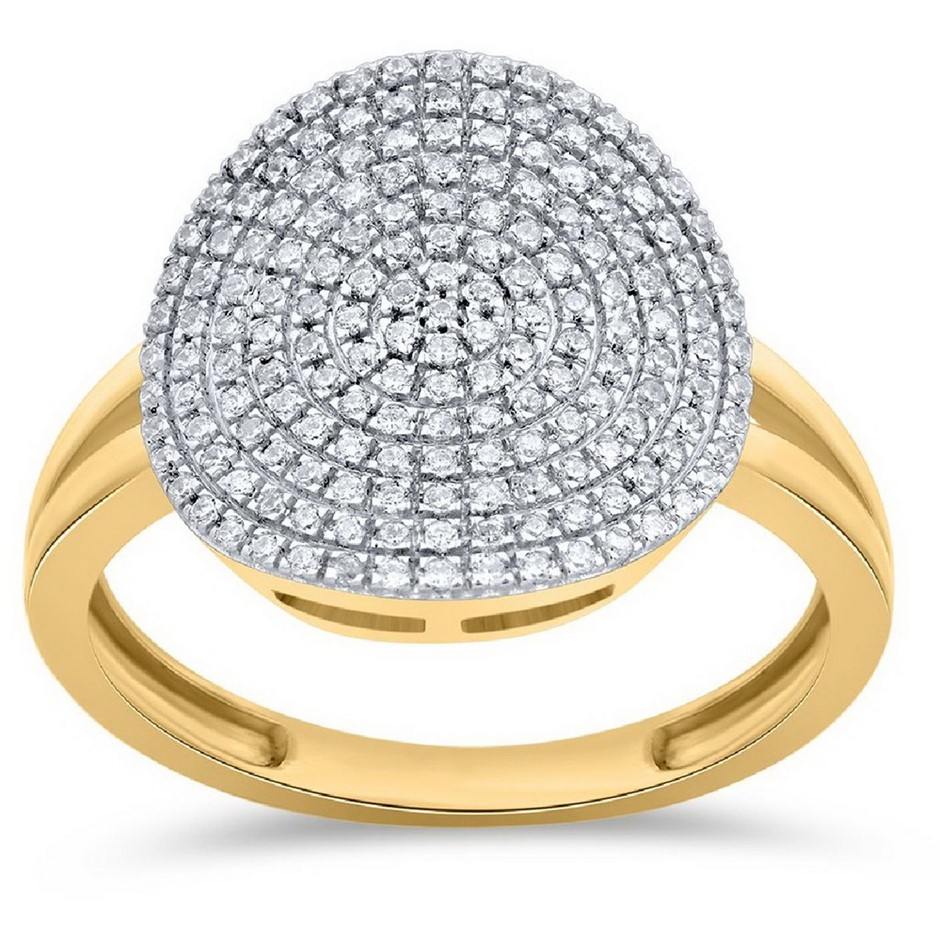 18ct Two Tone Gold, 0.23ct Diamond Ring