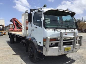 1995 Mitsubishi FM600 4 x 2 Tray Body Truck