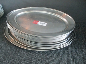 Qty Stainless Steel Serving Platters
