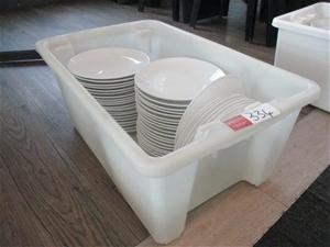 Tub of Dinner Plates