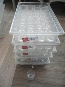 Quantity 5x Trays Plastic Glasses