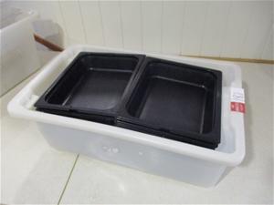 1 Tub of Carlisle Plastic Salad Dishes