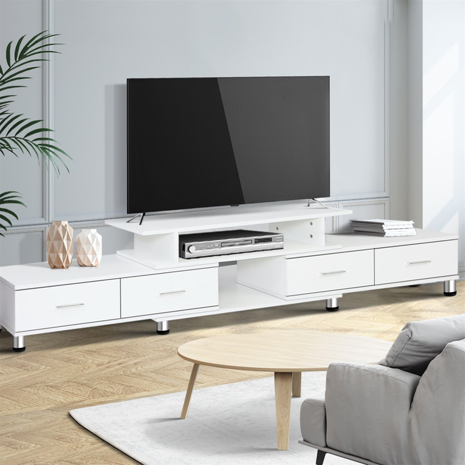 Artiss TV Cabinet Entertainment Unit Stand Wooden 160CM To 220CM