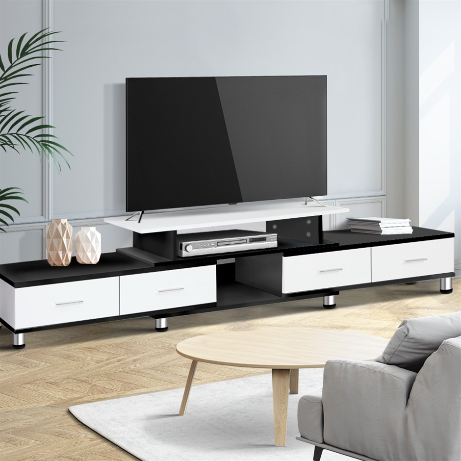 Artiss TV Cabinet Entertainment Unit Stand Wooden 160CM To 220CM Drawers
