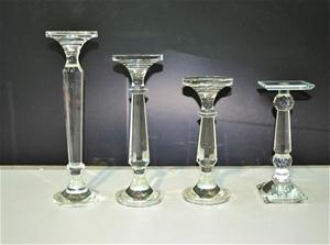 Crystal candlesticks - assorted, Ranging