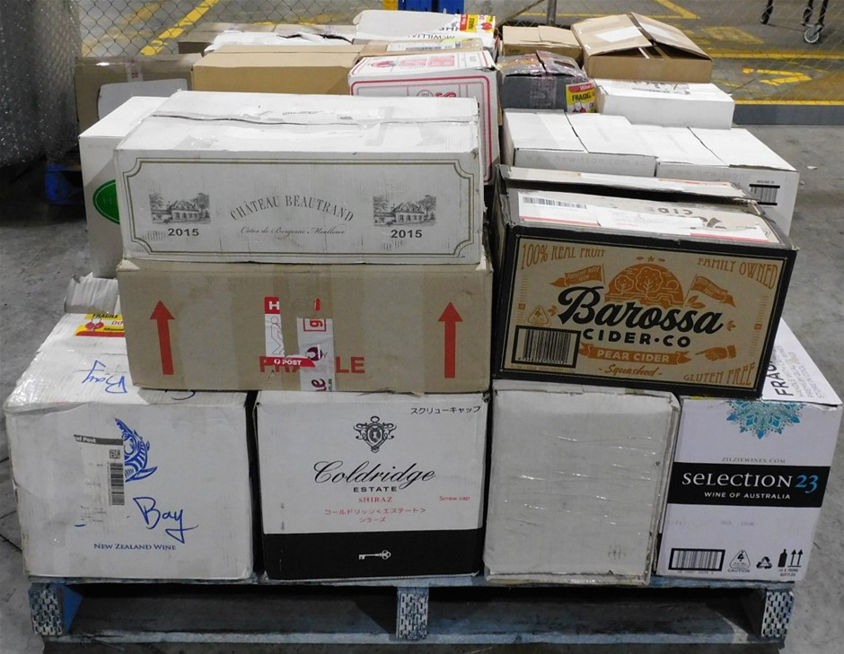 Pick Up Only A Mixed Pallet of Wine - Approx 33 Assorted Cartons of Wine